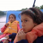 kids on the boat